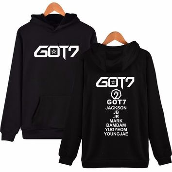 Kpop Got7 Hoodies For Women Fashion Harajuku Women Fleece Sweatshirt Pullover Hoodie Kpop Tracksuit Sudaderas Mujer Never Ever