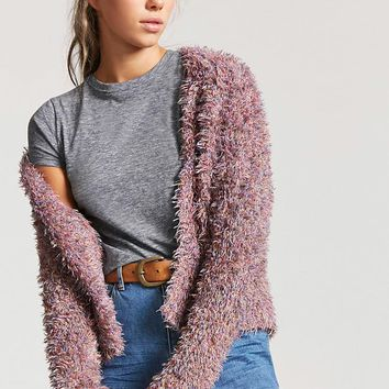 Fuzzy Knit Multicolor Cardigan