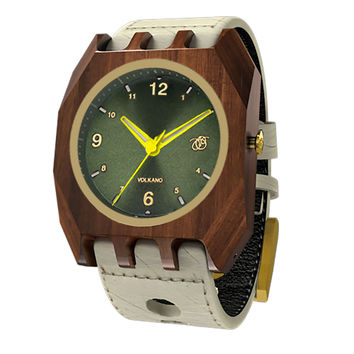 Mistura Volkano Unisex Watch Classic Green Dial Hollister Leather Band