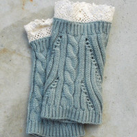 Cozy Knit Boot Cuffs in Gray [6329] - $10.50 : Vintage Inspired Clothing & Affordable Dresses, deloom | Modern. Vintage. Crafted.
