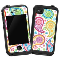 "Rainbow Paisley ""Protective Decal Skin"" for LifeProof iPhone 4/4s Case"