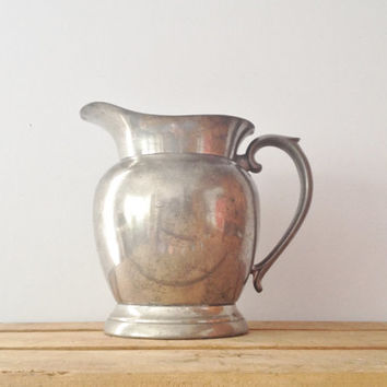 Silver Pitcher Vase - Pewter Water Pitcher - Trophy Cup CC of NC - Queen Art Pewter Brooklyn NY