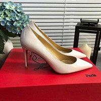 Christian Louboutin Cl Kate Pumps White Heel Height 8.5cm