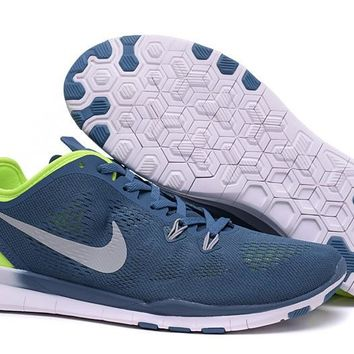 Nike Free TR FIT 5 Brthe Women's Training Shoes Clearwater Army blue/Fluores