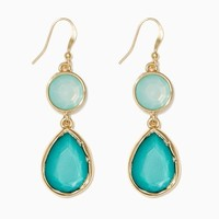 Two-Toned Sparkle Earrings | Fashion Jewelry - Mint | charming charlie