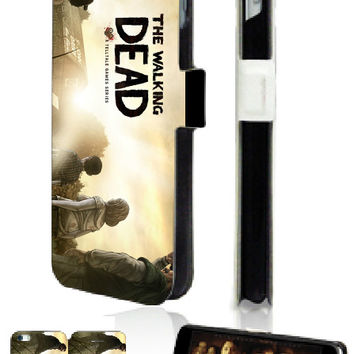 Mobile Phone Bags The walking dead 2 slot card wallet leather cases for smartphones