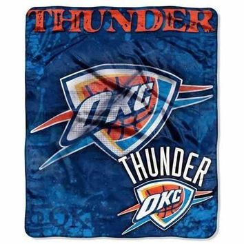 Oklahoma City Thunder Raschel Drop Down 50x60 Blanket