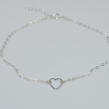 Dainty Heart Anklet