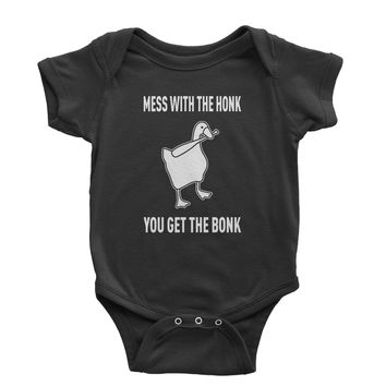 Goose Game Mess With The Honk Infant One-Piece Romper Bodysuit