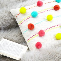 Karma Living Pom Pom Pillow