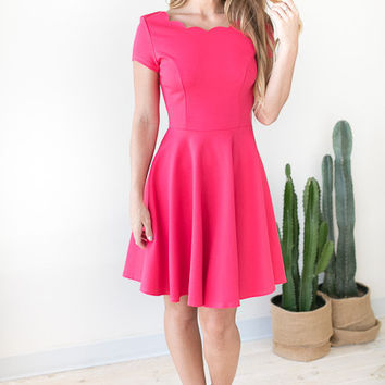 Butterfly Effect Fit and Flare Dress - Pink