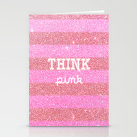 Think Pink! Stationery Cards by Cafelab
