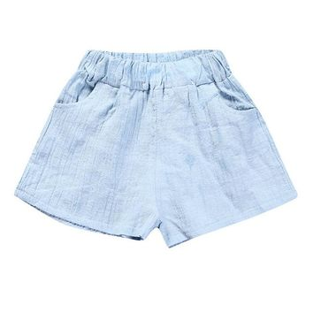 Hot Shorts New Children Harem Pants for Baby Cotton Linen Summer Beach Trousers Boys Girl Loose  Size1-7Y Toddler Baby Kids ClothesAT_43_3