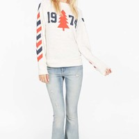 Wildfox Couture 1974 Nantucket Sweater in Vintage White