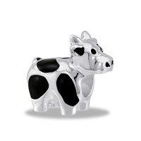 DaVinci Beads Black And Silver Cow Jewelry