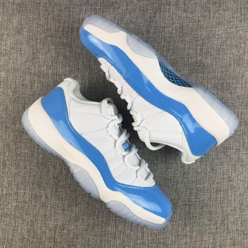 Air Jordan 11 Retro Low UNC AJ11 University Blue Columbia Sneakers - Best Deal Online