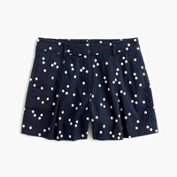 High-waisted polka-dot short
