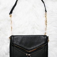 Double Flap Chain Strap Crossbody