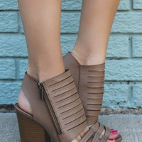 Drifting Away Heels - Beige