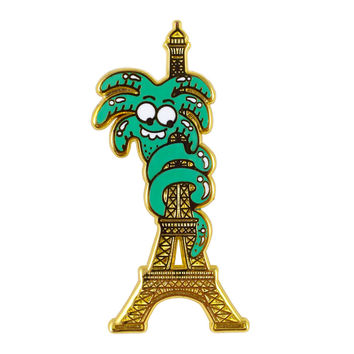 Eiffel Tower Palm Enamel Pin