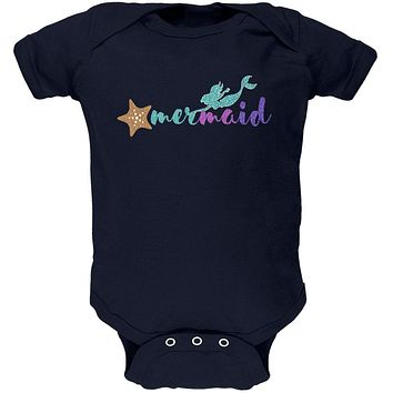 Sparkle Mermaid Soft Baby One Piece