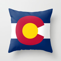Colorado State Flag - Authentic version Throw Pillow by LonestarDesigns2020 - Flags Designs +