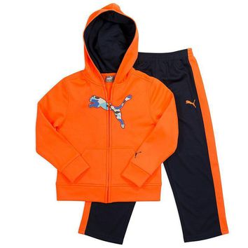 PUMA Fleece Full-Zip Hoodie & Mesh Pants Set - Boys