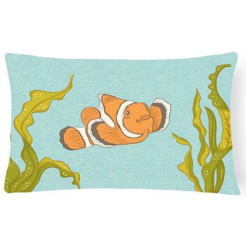 Clown Fish Canvas Fabric Decorative Pillow BB8543PW1216