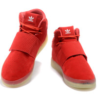 Adidas high tops crystal shoes sole boots Red
