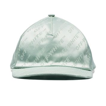 Mint Logo Print Hat by OFF-WHITE