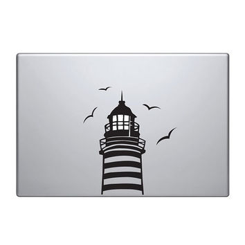 "Lighthouse Vinyl Decal / Sticker to fit Macbook Pro 13"" 15"" 17"" - Custom sizes available - precision die cut light bulb street lamp light"