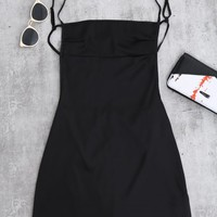 Backless Mini Slip Dress