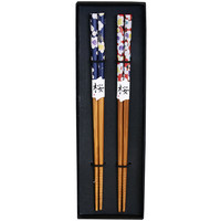 Japan Centre - Wooden Chopsticks with Cherry Blossom Pattern | Japan Centre