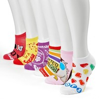 Assorted Candy 6-pk. No-Show Socks - Women, Size: One Size (Pink)