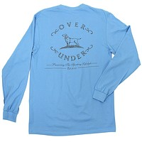 Sketched Logo Long Sleeve Tee in Coastal Blue by Over Under Clothing - FINAL SALE