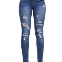 LH Women Jeans Ripped Holes Denim Jeans- Misses and Plus
