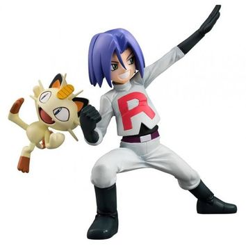 Pokemon Team Rocket James Cosplay Costume and Wig Free Shipping for Halloween and Christmas