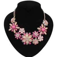New 2015 Hot Pendant Necklace Women Jewelry Trends Colar Statement Fashion Necklaces Resin Flower Pendants For Gift Party