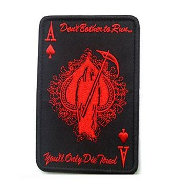 Cool Backpack school 2017 New Poker Ace Patch Awesome & Cool Tactical Badge Hook & Loop Military Morale Patch Armband Patch for Jacket Backpack etc. AT_52_3