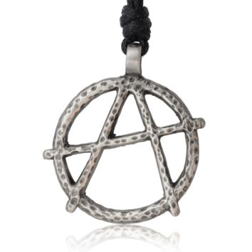 New Anarchy Letter A Silver Pewter Charm Necklace Pendant Jewelry