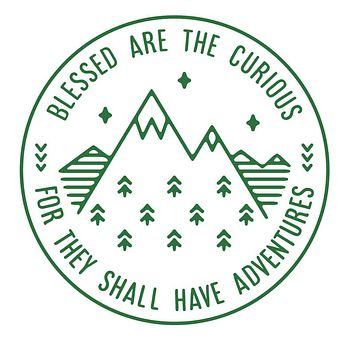 Blessed Are The Curious Sticker