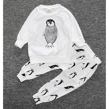 Infant Boys Penguin 2 Piece Pants Set
