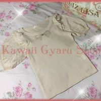 Liz Lisa Short Sleeved Ruffle Shoulder Sweater (NwoT) from Kawaii Gyaru Shop