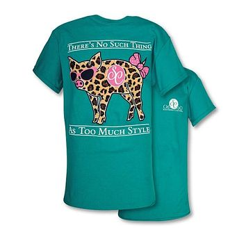 Southern Couture Preppy Classic Leopard Pig T-Shirt