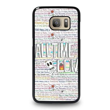 all time low writting samsung galaxy s7 case cover  number 1