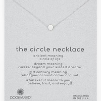 Women's Dogeared 'Reminder - The Circle' Boxed Pendant Necklace - Circle- Sterling Silver