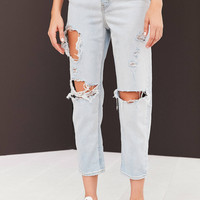 BDG Girlfriend High-Rise Jean - Light Blue Slash | Urban Outfitters