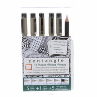 Zentangle Pigma Pen Tile Set Of 11 Pack