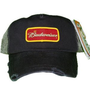 "NASCAR Budweiser Dale Earnhardt Jr #8 ""Ripped Series"" Adult Trucker Mesh back Snapback Cap Hat"