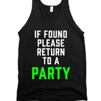 """""""If Found, Please Return To A Party"""" 